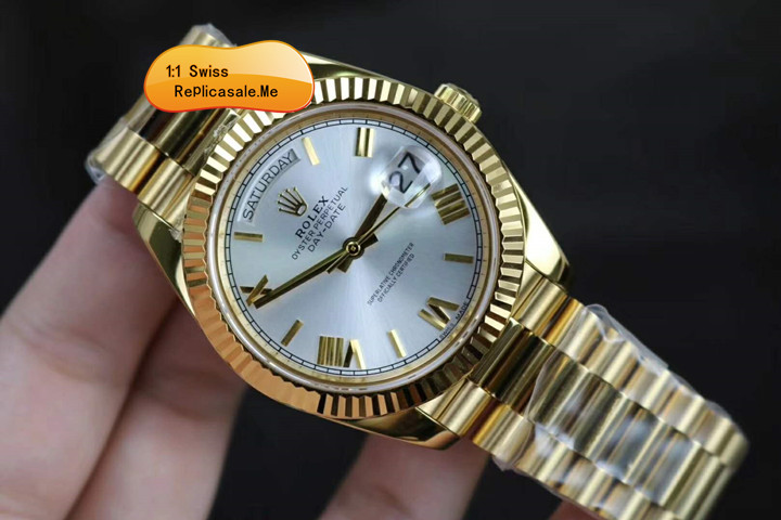 Rolex Day-Date 218238-83218 18K Gold White Face 1637A
