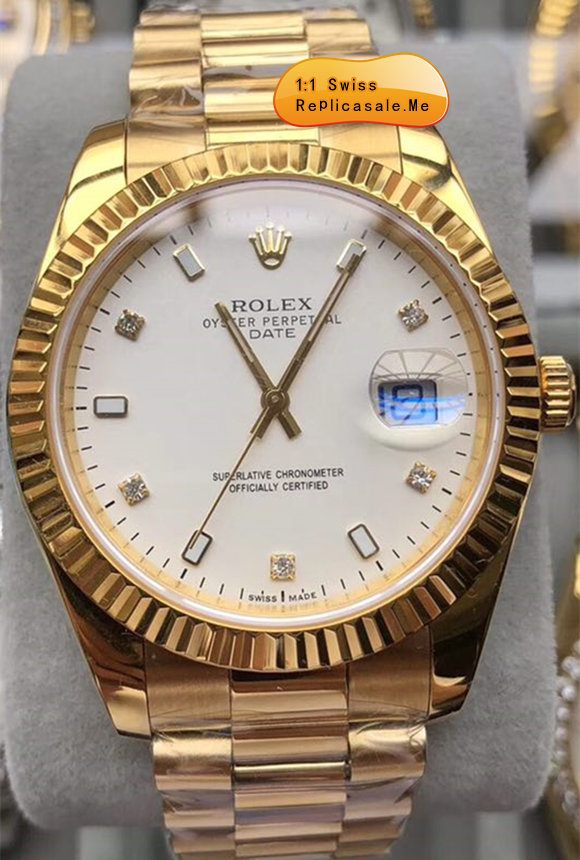 Replica Rolex Daydate White Face Swiss-ETA-7750-0009T