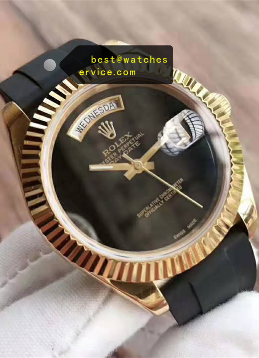 Rubber Replica Rolex Day Date Watch