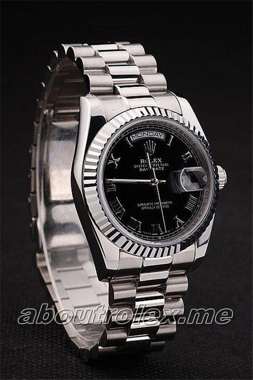 Buy Rolex Day-Date 218239-83219 Black Plate Replica 09L Online