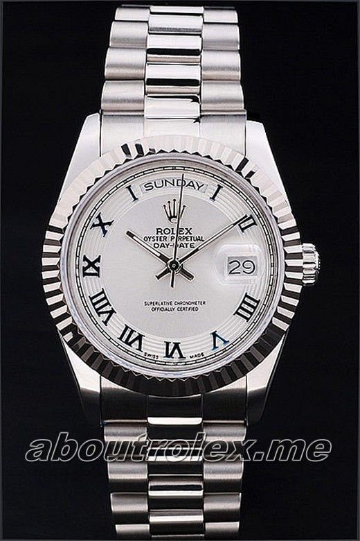 Cheap Rolex Day-Date Replica 16K Silver Dish