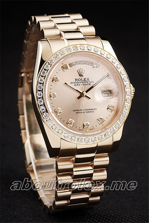Cheap Rolex Day-Date Rolex Day-Date 79A Gold diamond plate