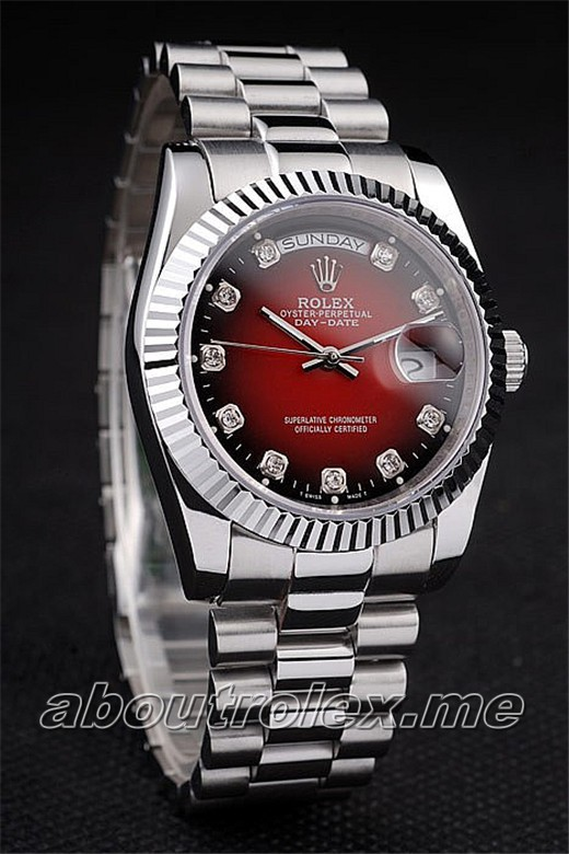 Replica Rolex Day-Date Red plate 09H