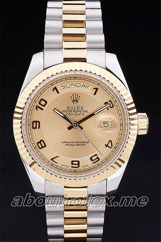 Fake Rolex Day-Date 24B gold crown