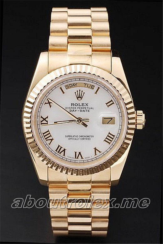 High Quality 1:1 Gold Rolex Day-Date 218238 Replica