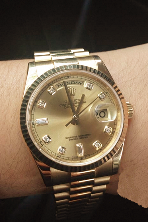 Luxury Gold Rolex Day-Date 118238A-83208 Replica