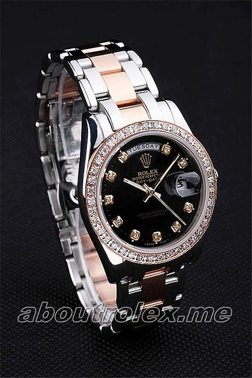 Luxury Rolex Day-Date Replica 4835 Black Plate