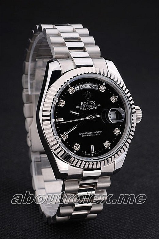 Rolex Day-Date 218206 Replica 25Y Black plate