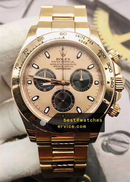 18CT-Gold Coating Fake Rolex Daytona m116508 Watch
