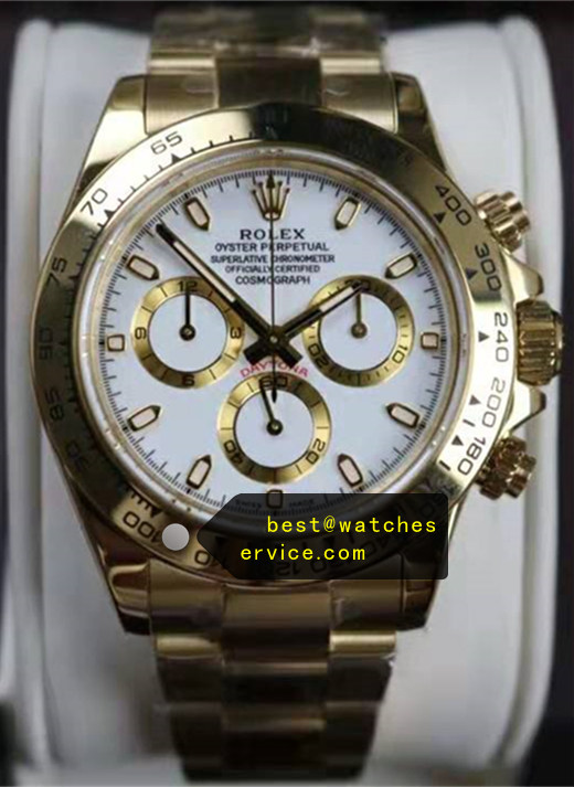 18k-Gold Fake Daytona 116508 Golden Chronograph Watch