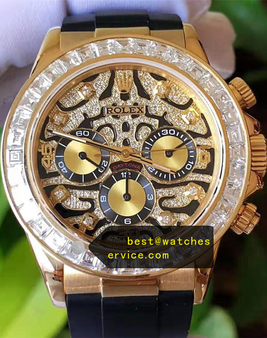 1:1 18k-Gold Fake Daytona 116588 TBR Artificial Diamond Watch
