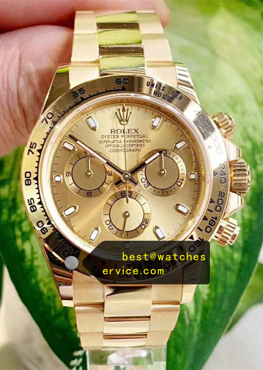 1:1 18k-Gold Fake Rolex Daytona 116508 Watch