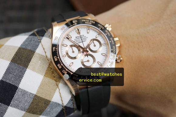 18k-Gold Ivory White Replica Rolex Daytona 116515LN-LFC Watch