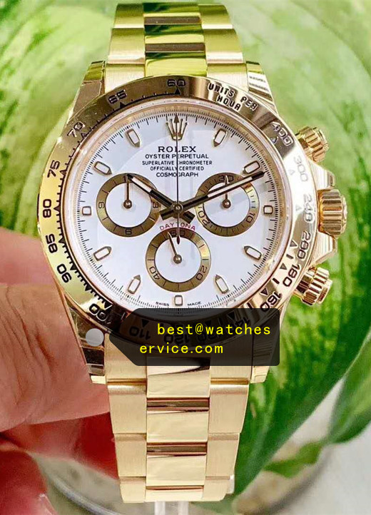1:1 18k-Gold Replica Daytona 116508 White Face Watch