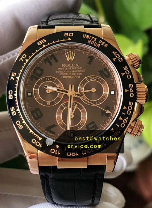 1:1 18k-Rose-Gold Fake Daytona M116515ln-0015 Watch