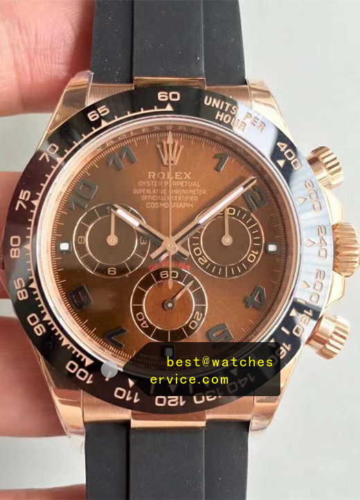 Brown Fake Rolex Daytona 116515LN Watch