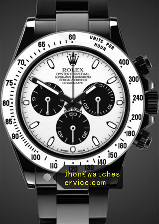 Fake Daytona 116520 White Face Black PVD Watch