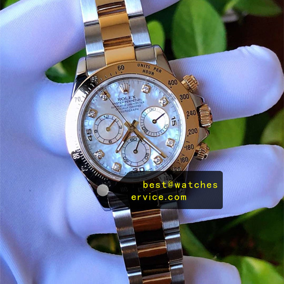1:1 904L Steel Fake Rolex Daytona 116503 White Seashell Watch