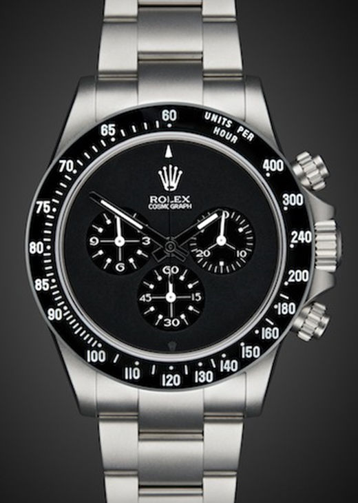 Fake Rolex Daytona Black PVD Face Steel Strap