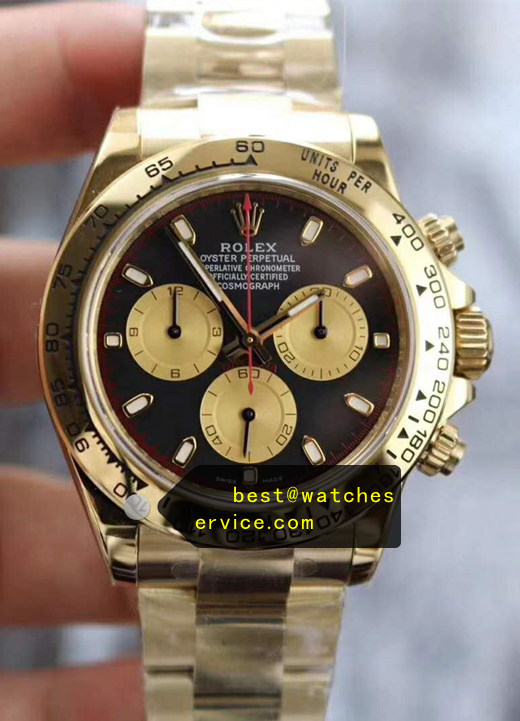 Gold Fake Rolex Daytona m116508 Watch