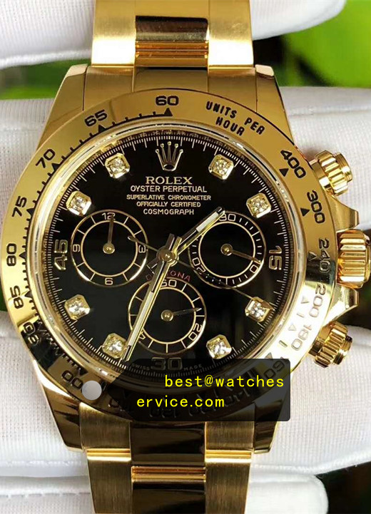 1:1 Gold Replica Daytona Classic Black Face Watch