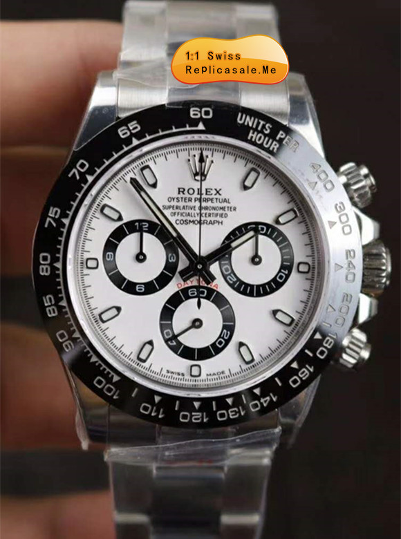 Replica Rolex Daytona 116500LN White Face With Black Ceramic Bezel