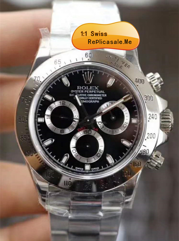 Rolex Daytona 116520 904L Bezel Black Ceramic Face