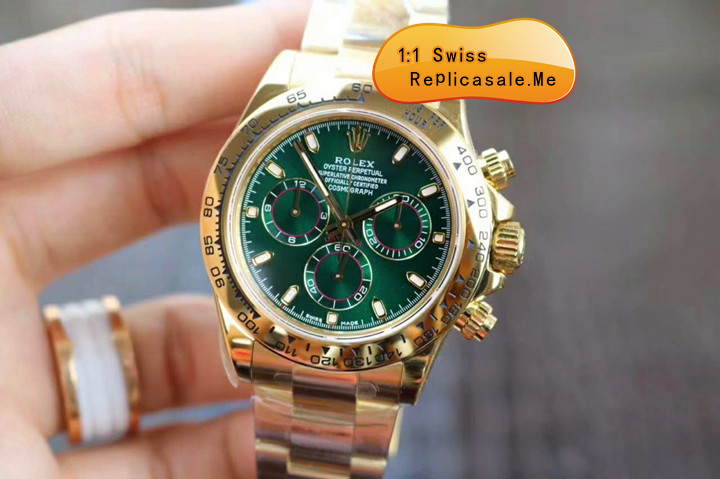 Rolex Daytona 116508 18k-Gold With Green Face 1018A