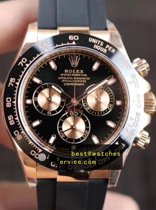 Rose Gold Fake Rolex Daytona M116515ln-0017 Watch