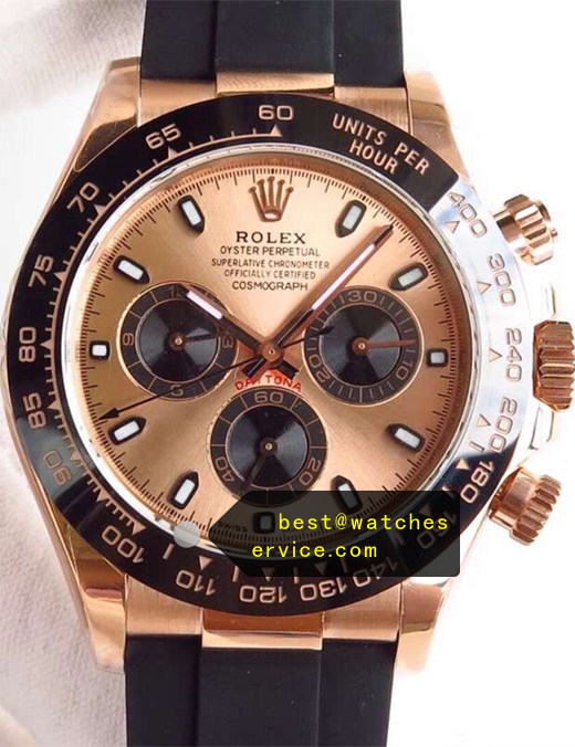 Rose Gold Fake Rolex Daytona m116515ln-0018 Watch