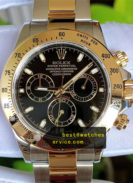 1:1 Steel Inlaid Gold Replica Rolex Daytona 116523 Watch