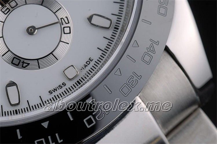 Best Rolex Daytona Replica Black Ceramic White Dial 8B