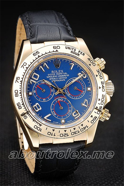 Cheap Rolex Daytona Replica 18k yellow gold plated case