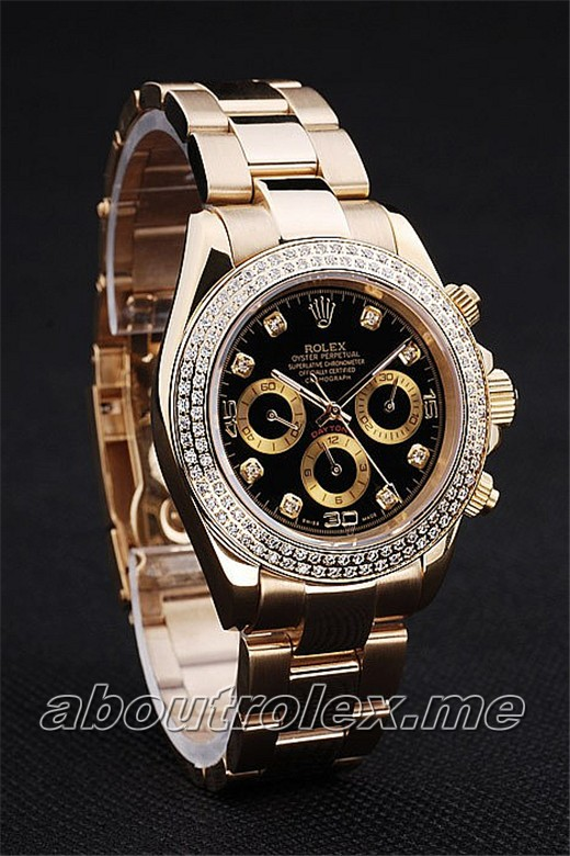Cheap Rolex Daytona Replica rl167 Gold toned stainless steel
