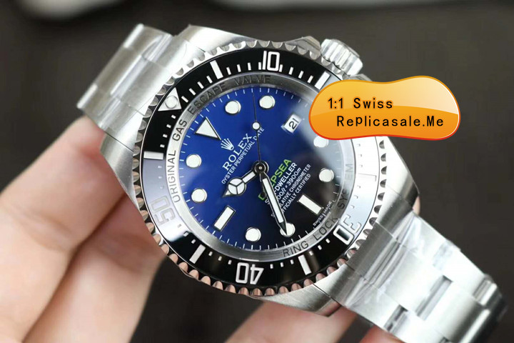 Gradient Glass Replica Rolex Sea-Dweller 116660 Green Deepsea Word 8102D