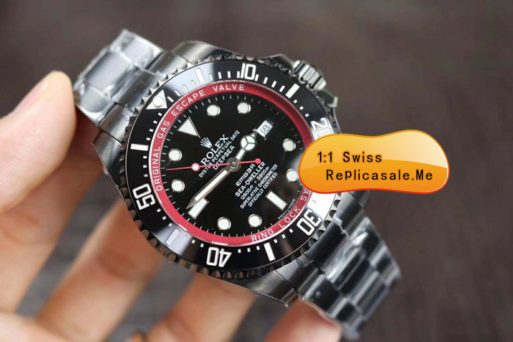 Red Rolex Sea-Dweller Deepsea With 914L Black Steel 1748T
