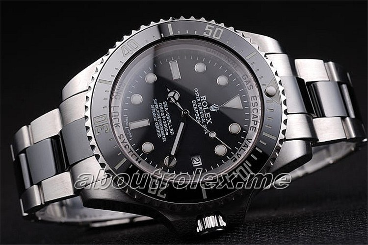Luxury Rolex Deepsea rl306 Black Silver Starp Replica Best Sale