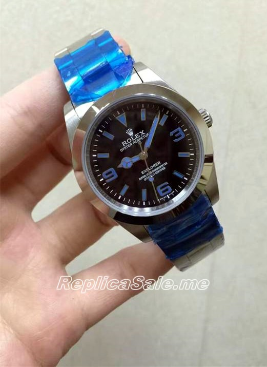 Swiss Rolex Explorer 02F Blue Scale 2016 New