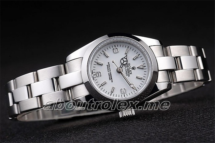 Rolex Explorer Replica Polished Stainless Steel White Dial 02A