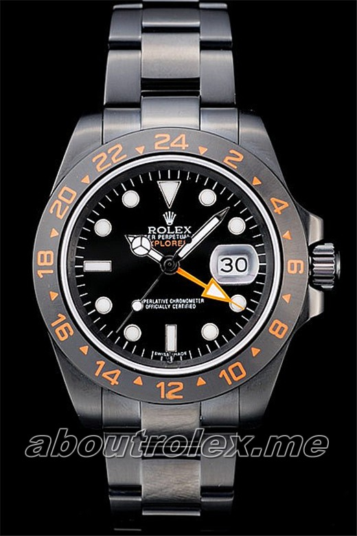 Rolex Explorer Replica Black Ceramic Bezel Black Dial Tachymeter