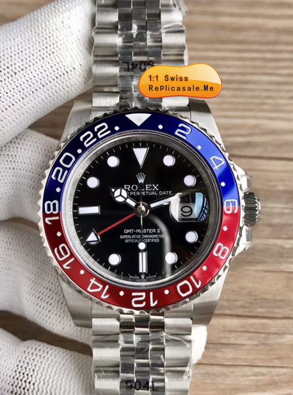8c721678bd0e Best Fake Rolex GMT Blue Red Bezel Swiss-ETA 3290