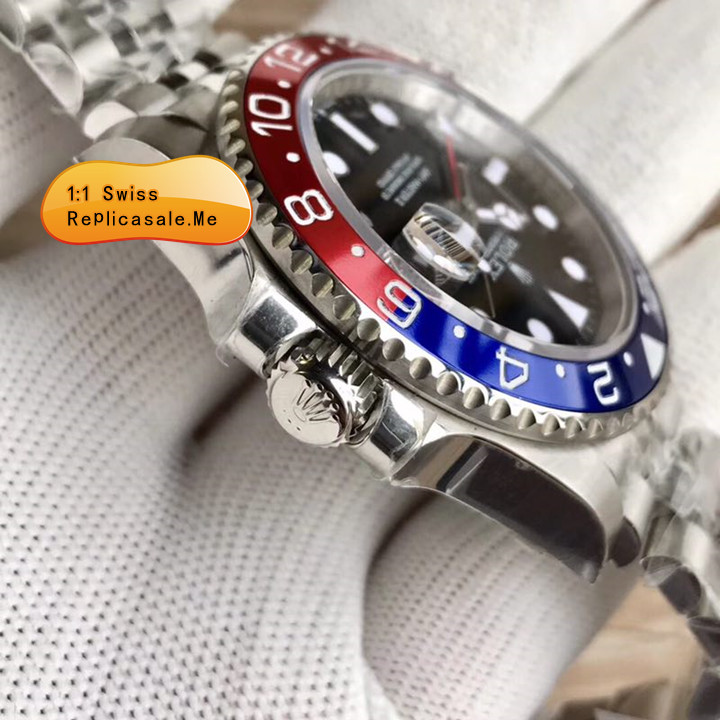 Best Fake Rolex GMT Blue Red Bezel Swiss-ETA 3290