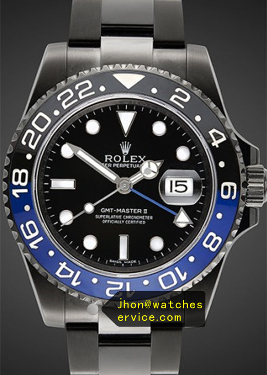 Fake Rolex Gmt-116710BLNR Blue With Black PVD Watch