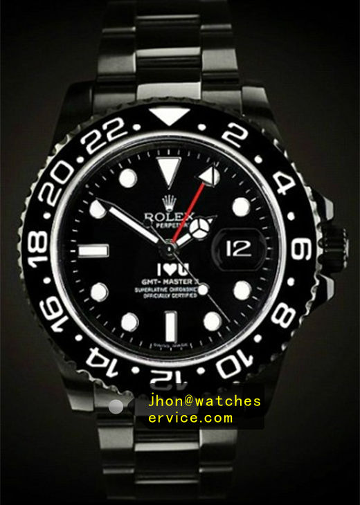 Fake Rolex Gmt-II 116710LN Black PVD Watch