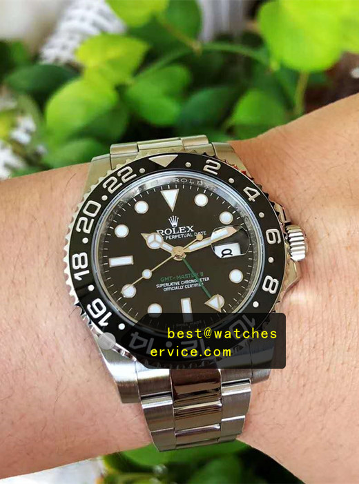1:1 Fake Rolex Gmt-II 116710LN Rotary Black Cerachrom Word Circle Watch