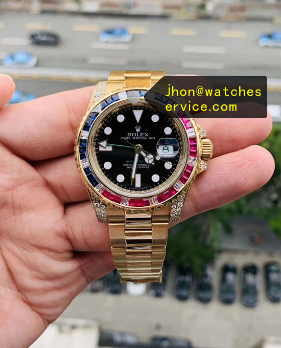 1:1 Gold Replica Rolex GMT 116759 Diamonds