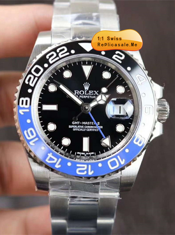 Replica Rolex Gmt-2 116710BLNR Blue Black Ceramic Bezel 7878G