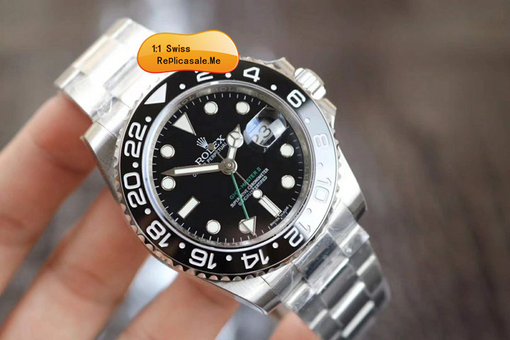 Rolex Gmt-2 Black Ceramic Bezel Green Gmt Word 23480P