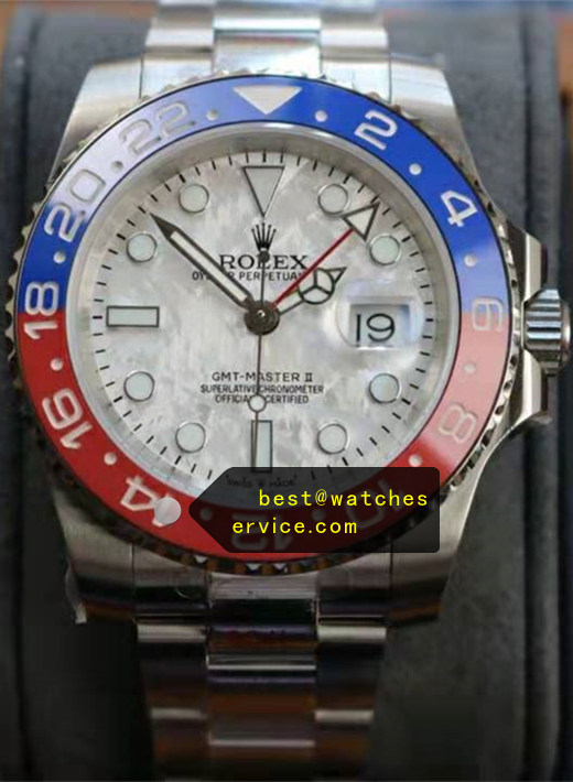 Silver Grey Replica Rolex GMT m126719blro Watch