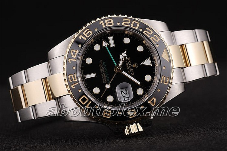 Luxury Rolex GMT Master II Replica Black Ceramic Tachymeter Black Dial